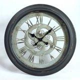 昇進のためのホーム装飾の丸型の水晶金属の柱時計