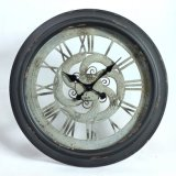 丸型の水晶金属の柱時計