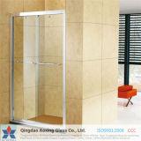 Plana templado / vidrio templado para puertas de la ducha