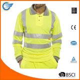 남자 높은 시정 긴 소매 작업복 폴로 t-셔츠