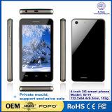 De hete Verkopende Dubbele Kern Androïde 4.4 Mtk6572 van Smartphone van 4 Duim 3G