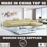 Qualitäts-Spitzenkorn-Leder-Sofa (Lz1005)