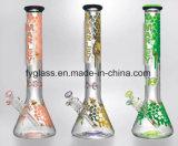 De Rokende Pijp van het Glas van de Pijp van Tabacco van het glas met het Overdrukplaatje van de Kam van de Honing