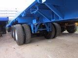 pneus à plat de double de la semi-remorque 3axles de 40FT pour le marché de la Thaïlande