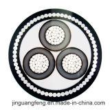 0.6/1kv, câble en aluminium de 6/10kv 8.7/10kv 26/35kv, câble d'alimentation blindé d'isolation du câble XLPE