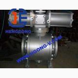 La bride de flottement d'acier inoxydable de pression d'API/DIN a modifié le robinet à tournant sphérique