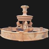 Una fontana di pietra di marmo delle 3 file, fontana del giardino dell'acqua (XF400)