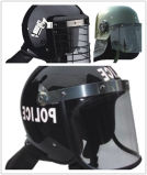 Capacete militar do controle de motim do ABS da polícia anti