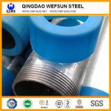 Tubo d'acciaio galvanizzato tuffato caldo per costruzione