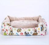 장방형 강아지 연약한 직물 호화스러운 방수 개 침대