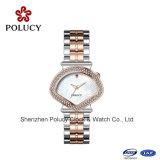 Vender por atacado seus relógios de vidro de Sapphier dos relógios feitos sob encomenda do logotipo com o relógio da jóia da forma