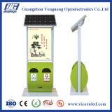 Cadre d'éclairage LED d'énergie solaire avec la poubelle
