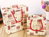 Белая хозяйственная сумка одежды бумаги карточки (FB2004)