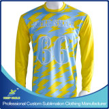 Sublimatoin를 가진 Boys를 위한 주문을 받아서 만들어진 Long Sleeve Lacrosse Shooter