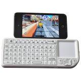 Touchpad et pointeur laser de Rii Mini Bluetooth Wireless White Keyboard With pour le PC, le PS3 et le HTPC (RT-MWK02)
