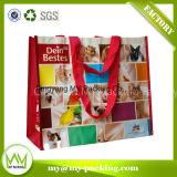 写真撮影の多彩な印刷によって薄板にされるOPPによって編まれるショッピング・バッグ