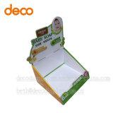 Rectángulo de papel a dos caras de la venta al por menor de la cartulina del caso de visualización para Supwemarket