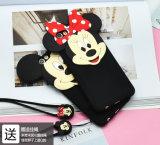 шарж случая силикона уха Mickey предохранения от мобильного телефона Apple 6s Mickey Минни раковины мобильного телефона iPhone7 мягкий