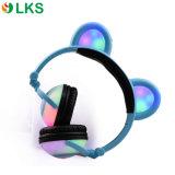 Il nuovo OEM ha collegato le cuffie elettricamente infiammanti pieghevoli addebitabili dell'orecchio dell'orso del LED