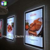 Стена установила рекламировать кристаллический знак индикации светлой коробки картинной рамки акриловый СИД