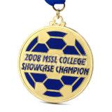 Medalha macia de bronze da lembrança do metal dos jogos do esporte do clube do futebol do copo de mundo do esmalte da liga 3D do zinco da prata feita sob encomenda barata do ouro da antiguidade do logotipo