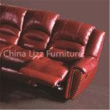 贅沢で優雅なL形の本革のリクライニングチェアのソファー