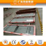 Portello di alluminio della stoffa per tendine di vetro glassato per la doccia