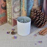 De Houders van de Kaars van het Glas van de cilinder met Witte Ritselen eindigen voor de Decoratie van het Huis