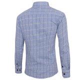 Longue chemise de robe de chemise de polyester occasionnel de mode (A417)