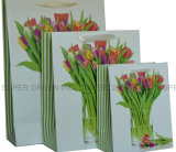 Sac de empaquetage de papier de nouvelle de modèle belle conception de fleurs