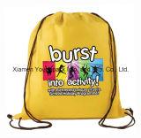 Sacs imperméables à l'eau faits sur commande promotionnels de sac à dos de cordon de sac à gymnastique de sports de nylon du polyester 210d