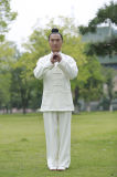道教の長袖のWudang Taiのキー流動システムコート
