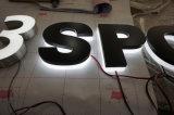 Außeninnengeschäft, das LED-3D Backlit galvanisierenstahl fabrizierte Rückkanal-Zeichen bekanntmacht