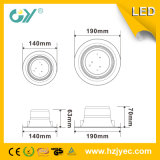 El LED integrado Downlight 12W refresca la luz