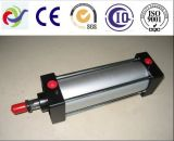 Cilindro do petróleo hidráulico de placa de impulso para o lixo