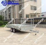 Volledige Aanhangwagen van het Bed van lage Kosten de Vlakke (SWT-FTT8*7)