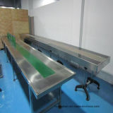 Nastro trasportatore piano portatile per industria delle bevande e dei prodotti alimentari/trasportatore mobile