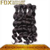 Nenhum emaranhado nenhum cabelo indiano de derramamento da onda frouxa (FDX-ILW-60)