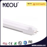 온난한 백색 4000k LED T8 18W 1200mm 관 빛 공장 또는 제조자