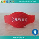13.56 MHz RFIDの札のシリコーンのリスト・ストラップを防水しなさい