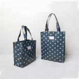 2つのサイズのTide Bags (CK005-6)濃紺のジッパーの閉鎖のハンドバッグの女性