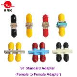 Sc/LC/FC/St/Mu/MTRJ/MPO Simplex 또는 Duplex/Quad Singlemode/Multimode Om3/Om4/APC Standard 또는 Hybrid Fiber Optic Adapter