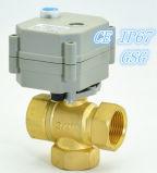 3/4 '' di valvola a sfera d'ottone dell'azionatore elettrico 3way per controllo automatico (T20-B3-B)