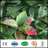 PVC Coated Green Plastic Artificial Plant Leaf Fence Outdoor con Ce