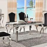 Таблица металла мраморный обедая с мраморный живущий мебелью комнаты