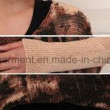 Frauen-Tiger gedruckte übergrosse lange Hülsen-Strickjacke