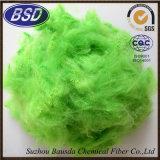 Fibra di graffetta di poliestere colorata uso non tessuto dei tessuti PSF
