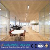 Panneau en bois de plafond d'isolation saine de fibre de décoration de mur intérieur de bureau