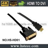 Revestimento de PVC HDMI ao serviço do OEM do cabo de DVI