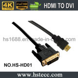 Belüftung-Umhüllung HDMI zum DVI Kabel Soem-Service